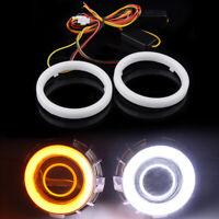 60-120MM COB LED Angel Eye Halo Ring Transfer Light Daytime Foglight Driving