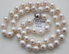 AAA+ 7-7.6MM JAPANESE AKOYA SALTWATER PEARL NECKLACE 43cm