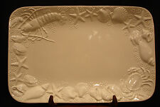 Seashell By Este CE   RECTANGULAR SERVING PLATTER /  TRAY 17 1/2""