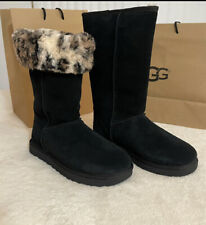 NEW In bOX UGG CLASSIC TALL II ANIMAL PRINT BLACK SUEDE Boot US 8 / EU 39 / UK 6