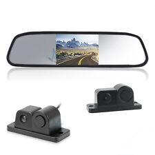 """Kit Retromarcia Specchietto 4,3"""" LCD Retrocamera Sensore di Parcheggio Integrato"""