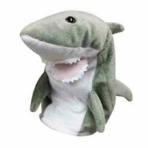 DINKI DI MATES GREY SHARK PUPPET ANIMAL PLUSH TOY 25cm **FREE DELIVERY**