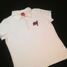 Tampa Bay Buccaneers Women XL Polo Shirt White Extra Large Cap Sleeves *3P