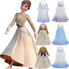 Kids Girls Frozen2 Queen Elsa Anna Cosplay Costumes Party Fancy Dress Outfit New