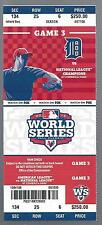 2012 WORLD SERIES SF GIANTS @ DETROIT TIGERS FULL UNUSED BASEBALL TICKET GAME #3