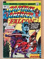 CAPTAIN AMERICA #177 Fine 1974 Falcon Lucifer L@@K WOW!!!
