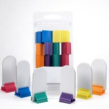 12 Blank board game stand-up player pieces stands 6 colors markers pawns