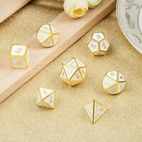 7Pcs/set High Quality Antique Metal Polyhedral Dice Role Playing Game With Bag