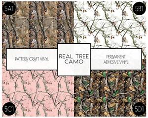 Real Tree Camo Pattern HTV Siser & Adhesive Craft Vinyl Oracal FREE SHIPPING 20+