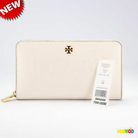 Tory Burch Robinson Zip Continental Mini Wallet Ivory Color OS - New With Tag