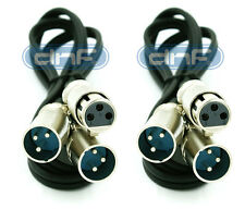 2 Pack 3 FT XLR 3-Pin Female Plug to 2-XLR Male Y Splitter Cable 1 FEMALE 2 MALE