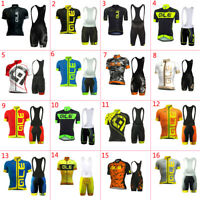 2020 Mens Cycling Clothing Bicycle Short Sleeve Cycling Jerseys Bib Shorts sets
