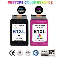 2PK #61 XL Black/Color Ink For HP ENVY 4500 4501 4502 4504 5530 5531 5535