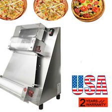 [USA SHIP] Auto Pizza Bread Dough Roller Sheeter Pizza Making Machine Stainless