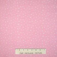 Nursery & Baby Fabric - Stars on Light Pink - Cotton YARD