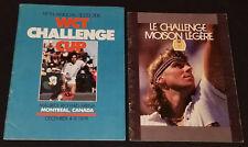 1979 + 1982 - TENNIS TOURNEY, MONTREAL - PROGRAM (2) - CONNORS, BORG, LENDL, ETC