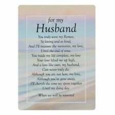 Graveside Memorial Cards FOR MY HUSBAND - memorial Poem By Joe Ward