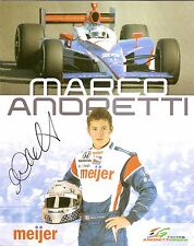 2009 MARCO ANDRETTI signed INDIANAPOLIS 500 MEIJER PHOTO CARD POSTCARD INDY CAR