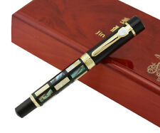 Jinhao 650 Bright Pearl Dark Green Sea Shell Fountain Pen with Luxury Gift Box