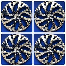"Set of 4 CHROME 16"" Hubcaps Wheelcovers fits 2017-2018 Toyota Corolla LE"