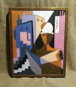Mid C20TH Modernist Oil,  J. Lambert-Rucki