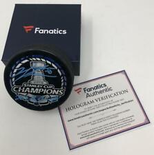 "JORDAN BINNINGTON Autographed Blues ""19 SC Champs"" Official Puck FANATICS"