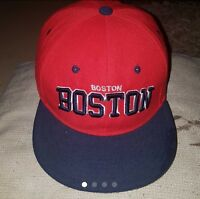 A Genuine Men's BOSTON City Red Snapback Summer Hat