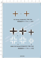 1/35 German Pz.Kpfm. KV-1 756 KV-2 754 Tank Model Kit Metal Decal