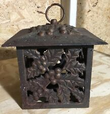 CAST IRON PAGODA LANTERN JAPANESE Style Hanging GARDEN CANDLE LAMP HOME PORCH