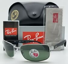NEW Rayban RB3478 004/58 60 sunglasses Silver Classic Green Polarized AUTHENTIC