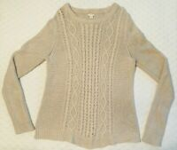 J. CREW Classic Cable Knit Women's Wool Blend Pullover Sweater, Size Medium