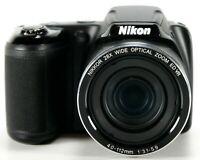 Nikon Coolpix L340 20.2 MP Digital Camera 28x Optical Zoom 56x Digital 1080p HD