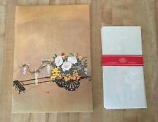 Vintage Otagiri Pink Floral Notepad & Envelopes Stationery Set NEW RARE!