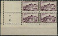 FRANCE 1946 Vézelay Bloc YT: N° 759 neuf ★★ Luxe / MNH  coins datés  27-6-1946