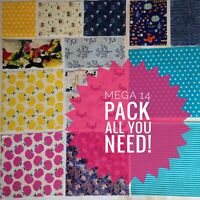 Beeswax Food Wraps - SET of 14 - Family Pack Kitchen and Lunch Set - Bees Wax