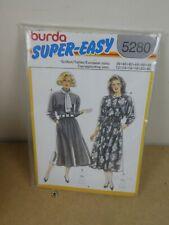 Burda Super Easy Sewing 5280 Ladies Dresses Sizes 12-20