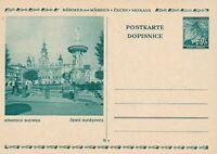 Card Germany Bohemia Czechoslovakia WWII Linden Prague Bohmisch Budweis Mint