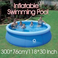 10ft x 30in Inflatable Above Ground Round Easy Set Swimming Pool For Family Kids