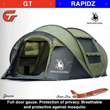 Large Tent 4 People Auto Throw Tent Outdoor Auto Set Up Waterproof Camping GREEN