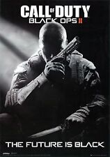 """CALL OF DUTY BLACK OPS II POSTER PRINT THE FUTURE IS BLACK VIDEO GAME 24""""x36""""NEW"""