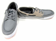 LaCoste Boat Shoes Keel Mov SPM Leather Gray/Brown Topsiders Size 8.5