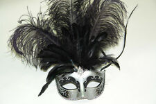 Fifty shades of Grey Masquerade Ball Eye Mask Black silver gold Ostrich feather
