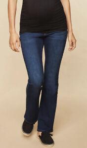 motherhood Maternity Indigo Blue Secret Fit Belly Stretch Maternity Jeans P XL