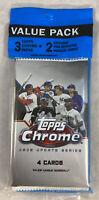 2020 Topps Update Chrome Baseball Value Cello Pack New Factory Sealed