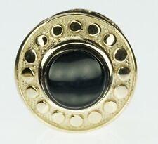14K Yellow Gold Slide Bracelet Charm Slider Refurbished Round Onyx