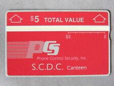 Kaart MINT Ongebruikt USA - PCS / S.C.D.C. Canteen $5  /  902A