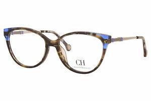 Carolina Herrera VHE851K 0743 Eyeglasses Tortoise/Blue/Gold Optical Frame 53mm