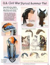 Ladies 1850s - Civil War Period Summer Hat - Lynn McMasters Sewing Pattern #42