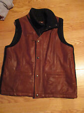 Lone Pine American Made Leather Plush Vest Cashmere SIZE 40