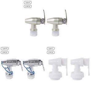 2x Plastic Faucet Beverage Dispenser Push Style Spigot 360° Rotation Spigot Part